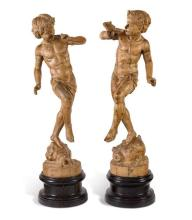 A pair of Spanish pine figures, 18th/19th century (4)