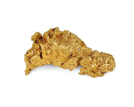The 'David Reed' gold nugget, discovered near Kalgoorlie, Western Australia, circa 1975
