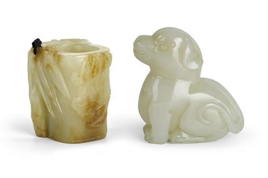 Two jade carvings, 19th/20th century (2)