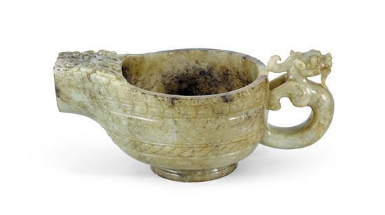 An archaistic jade ewer 17th/18th century