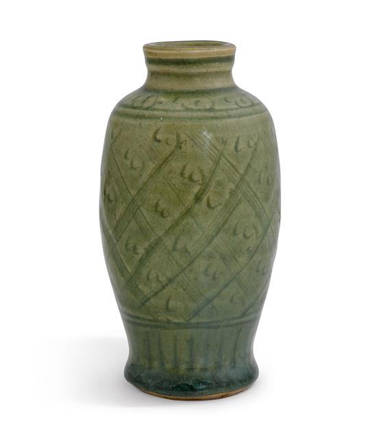 A small 'Longquan' celadon vase Ming dynasty