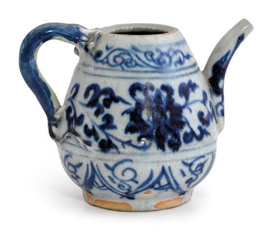 A small blue and white ewer Ming dynasty