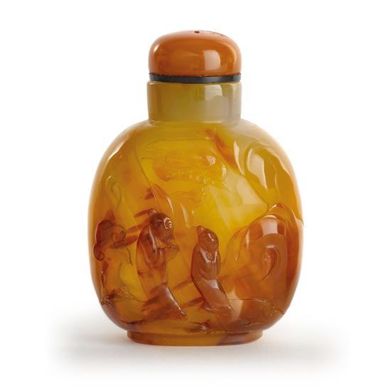 An agate snuff bottle (2)