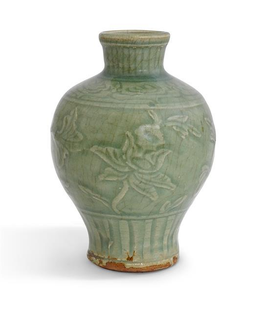 A 'Longquan' celadon vase, Meiping Ming dynasty