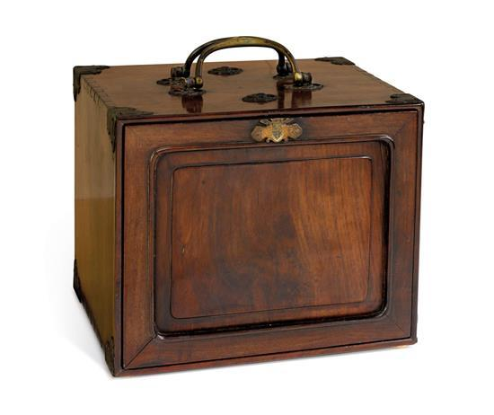 A hardwood portable medicine chest Xiaoxiang, 19th/20th century