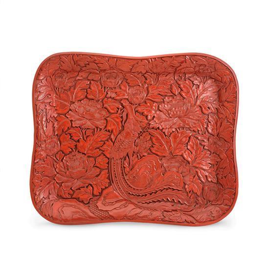 A cinnabar lacquer tray (2)
