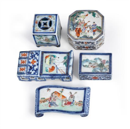 A five piece writing set Qing dynasty, 19th century (7)