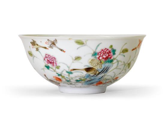 A 'famille-rose' bowl mark of Xuantong
