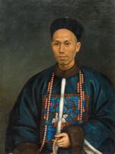 A portrait of a Hong merchant, style of Spoilum, 19th/20th century