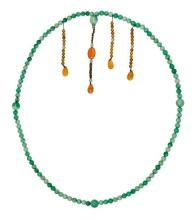 A jadeite and chalcedony court necklace, Chaozhu