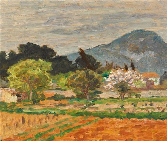 RUPERT BUNNY 1864-1947 (Landscape, France) oil on paper