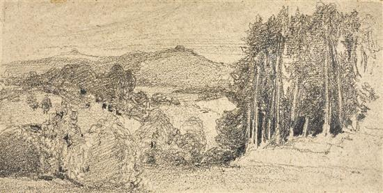 JOHN SELL COTMAN 1782-1842 (Landscape) pencil on paper on card