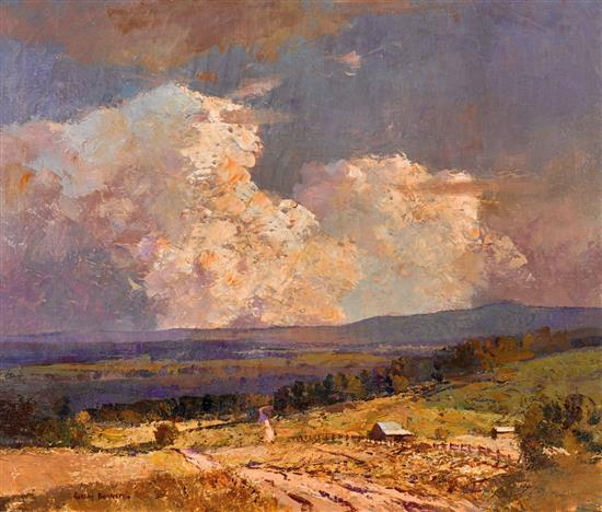 WILLIAM RUBERY BENNETT 1893 - 1987 (Silverdale Landscape) oil on canvas