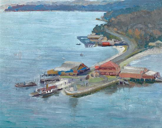 ROY DE MAISTRE 1894-1968 The Spit, Sydney (circa 1920) oil on canvas on board