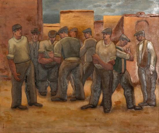 HORACE BRODSKY 1885-1969 Midday Respite 1955 oil on canvas