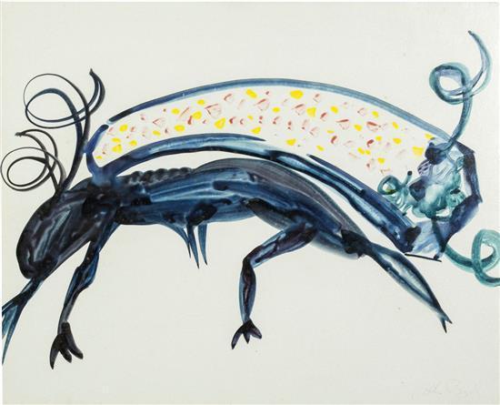 ARTHUR BOYD 1920-1999 (Mythical Animals) (1968) watercolour on card