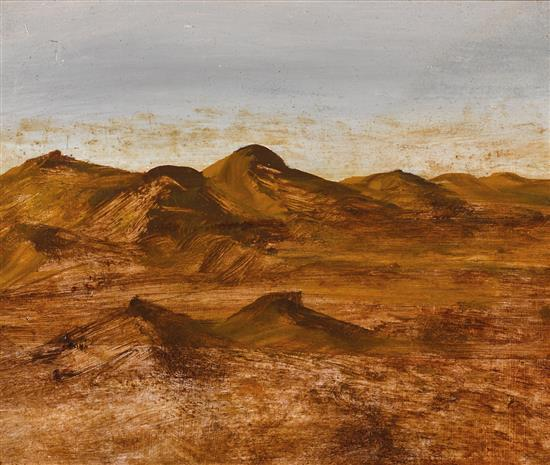 SIDNEY NOLAN 1917-1992 (Landscape) oil on paper on board