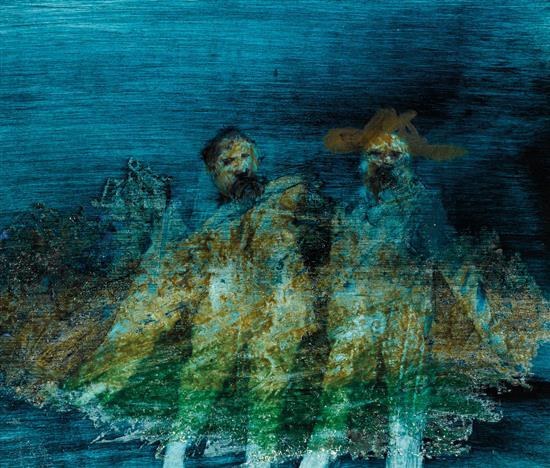 SIDNEY NOLAN 1917-1992 (Two Figures) 1967 oil on card