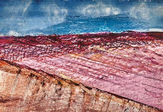 SIDNEY NOLAN 1917-1992 Central Australian Landscape oil on paper