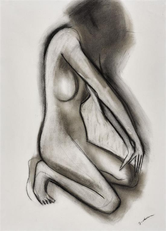 ROBERT DICKERSON 1924-2015 (The Dancer) charcoal on paper