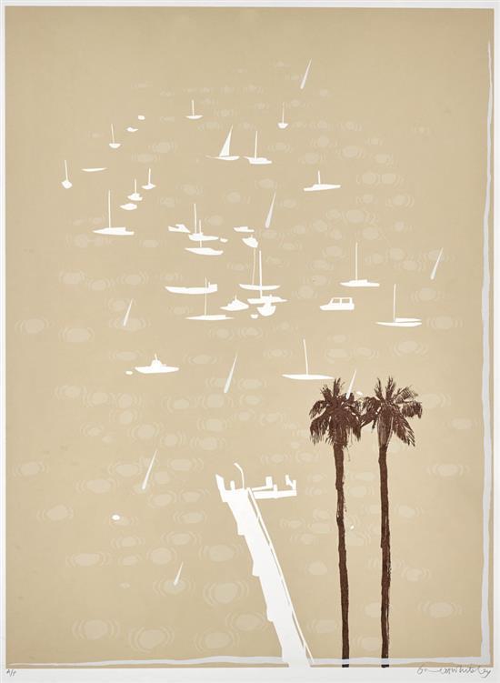 BRETT WHITELEY 1939-1992 Lavender Bay in the Rain 1987 screenprint on paper