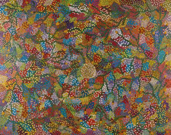 DOROTHY ROBINSON NAPANGARDI circa 1956-2013 synthetic polymer paint on linen
