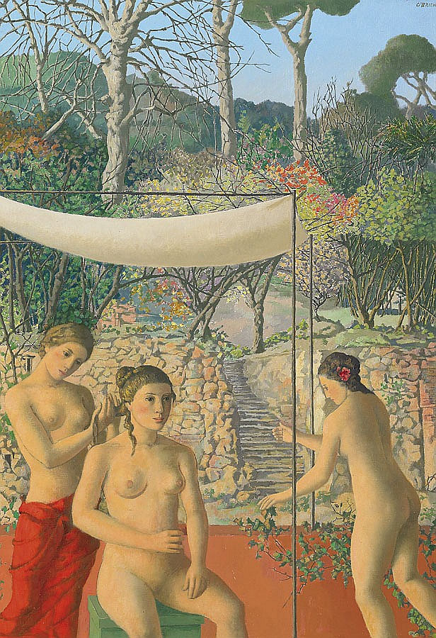 Justin O'Brien 1917-1996 VENUS ON A TERRACE (1988) oil on canvas