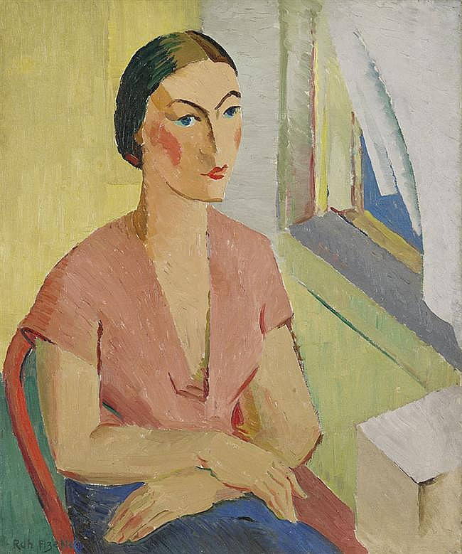 Rah Fizelle 1891-1964 WOMAN IN PINK BLOUSE (1939) oil on canvas