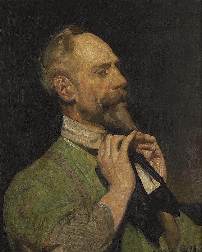 George W. Lambert 1873-1930 THE BLACK CRAVAT 1910 oil on canvas