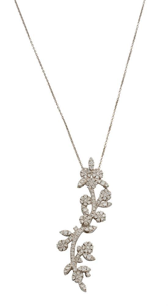 18ct white gold and diamond ''Garden of Eden'' pendant necklace, Pasquale Bruni, circa 2006