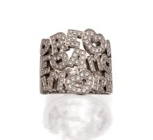 18ct white gold and diamond ''Amore'' ring, Pasquale Bruni
