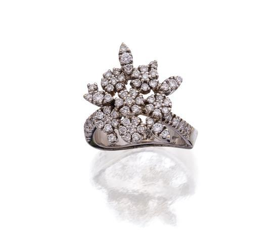 18ct white gold and diamond ''Garden of Eden'' ring, Pasquale Bruni, circa 2006