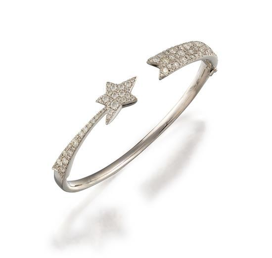 18ct white gold and diamond ''Illa Cosmic'' bangle, Hearts on Fire