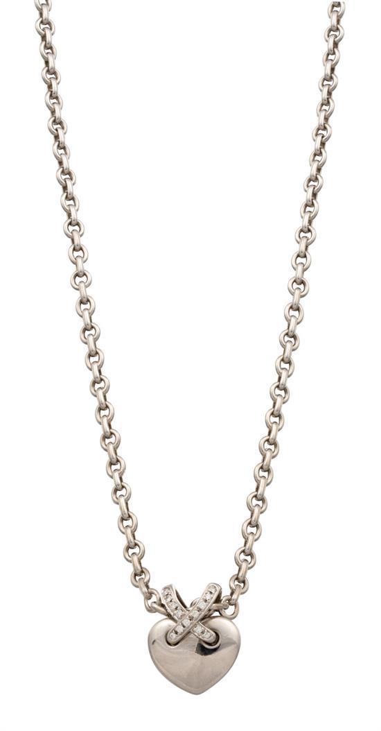 18ct white gold and diamond ''Liens de Coeur'' pendant necklace, Chaumet, circa 2005