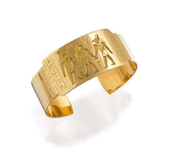 18ct gold ''God Collection'' armlet, Robert Clerc, circa 2005