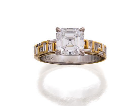 18ct gold, platinum and diamond ''Cubism'' ring, Canturi