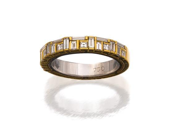 18ct gold, platinum and diamond ''Cubism'' ring, Canturi