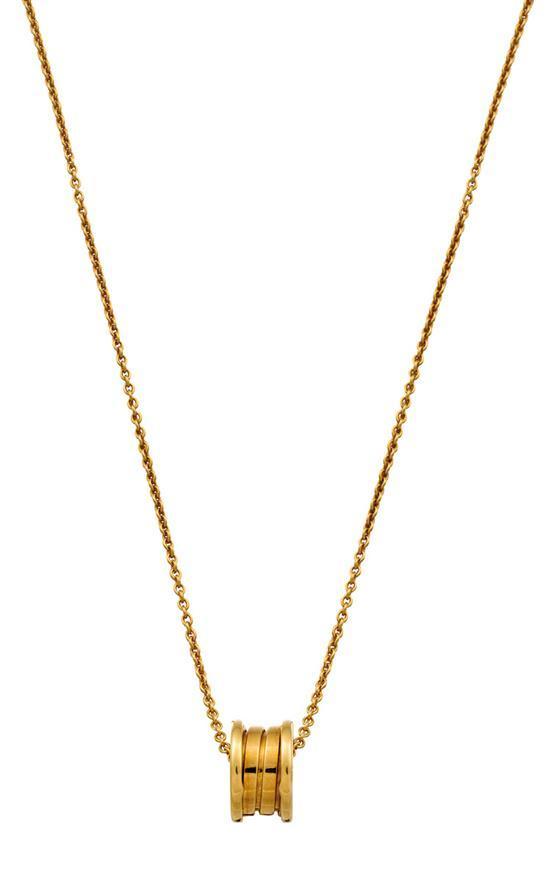 18ct gold ''B-zero1'' pendant necklace, Bulgari
