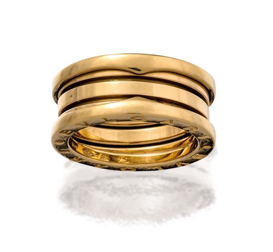 18ct gold ''B-zero1'' ring, Bulgari