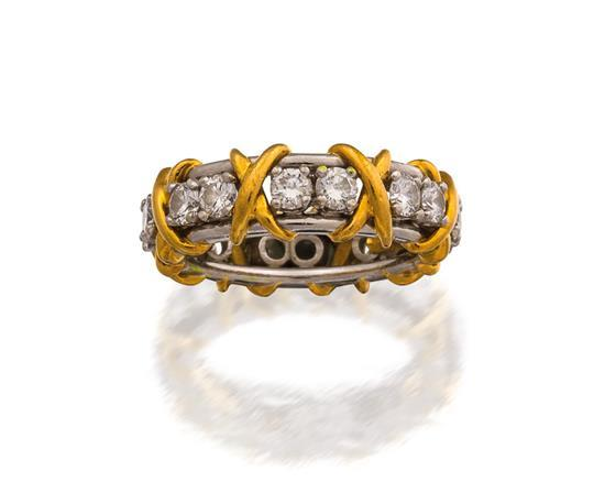 Platinum, 18ct gold and diamond ''Sixteen Stone'' ring, Jean Schlumberger for Tiffany & Co.