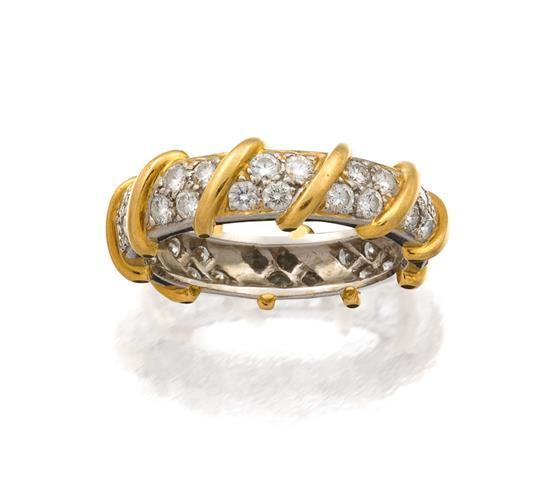 Platinum, 18ct gold and diamond ring, Tiffany & Co.