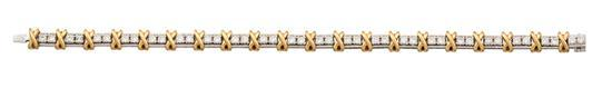 Platinum, 18ct gold and diamond ''40 Stone'' bracelet, Jean Schlumberger for Tiffany & Co.