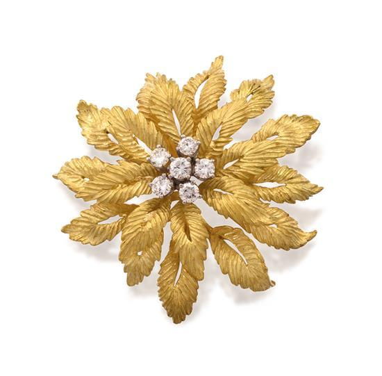 18ct gold and diamond brooch, Tiffany & Co.