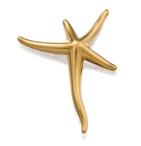 18ct gold ''Starfish'' brooch, Elsa Peretti for Tiffany & Co.