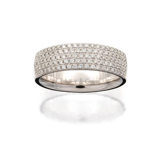 18ct white gold and diamond ''Metro'' ring, Tiffany & Co.