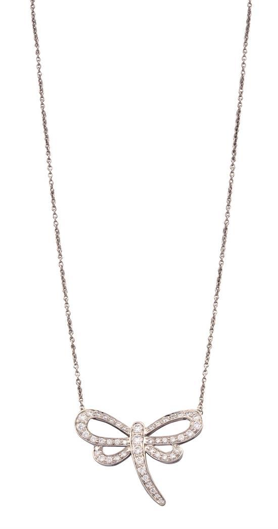 Platinum and diamond ''Dragonfly'' necklace, Tiffany & Co.