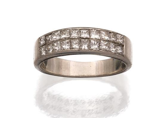 Platinum and diamond ring, Tiffany & Co., circa 2001
