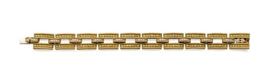18ct gold, fancy yellow diamond and diamond bracelet