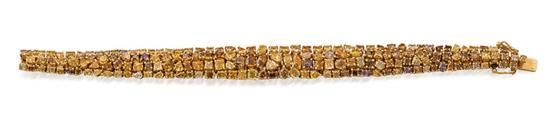 18ct gold and coloured diamond bracelet