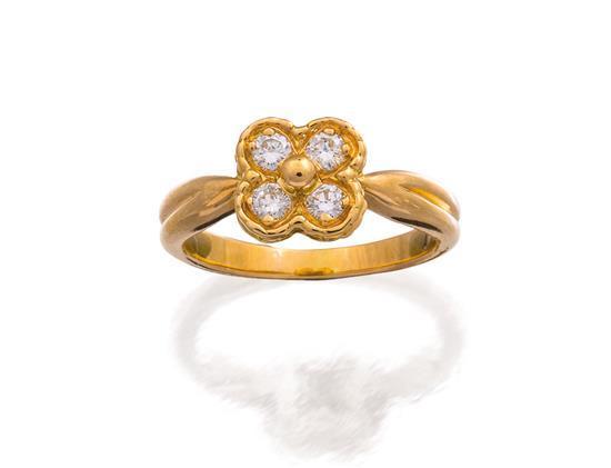 18ct gold and diamond ''Vintage Alhambra'' ring, Van Cleef & Arpels